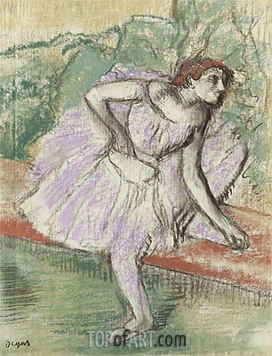 Violet Dancer, c.1895/98 | Degas| Painting Reproduction
