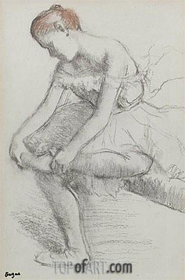 Seated Dancer, c.1896 | Degas| Painting Reproduction