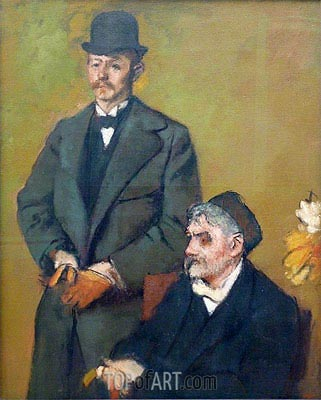 Henri Rouart with His Son Alexis, 1895 | Degas| Painting Reproduction
