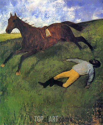 The Fallen Jockey, c.1896/98 | Degas | Painting Reproduction