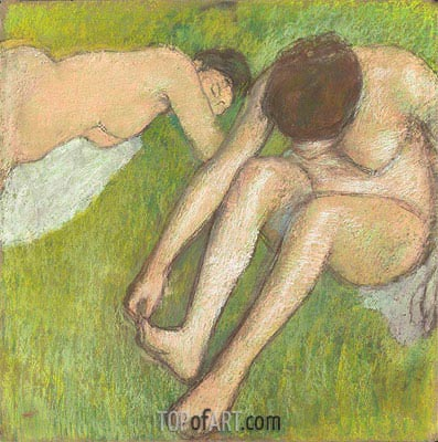 Two Bathers on the Grass, c.1886/90 | Degas| Painting Reproduction