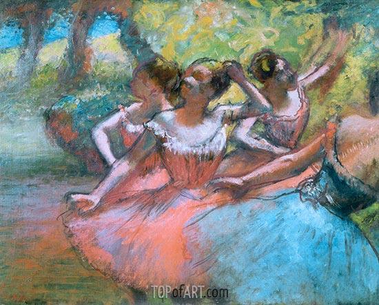 Degas | Vier Tänzerinnen auf der Bühne, c.1885/90