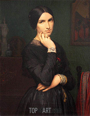 Madame Hippolyte Flandrin, 1846 | Hippolyte Flandrin | Painting Reproduction