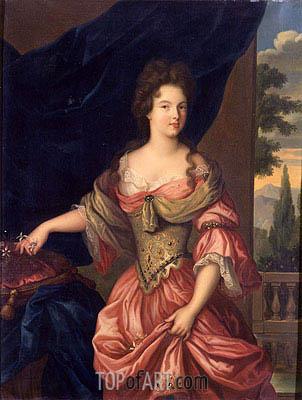 Hippolyte Flandrin | Marie-Anne de Bourbon, Duchesse de Vendome, 1839