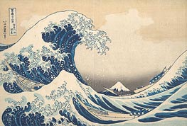The Great Wave at Kanagawa, c.1830/32 by Hokusai | Painting Reproduction