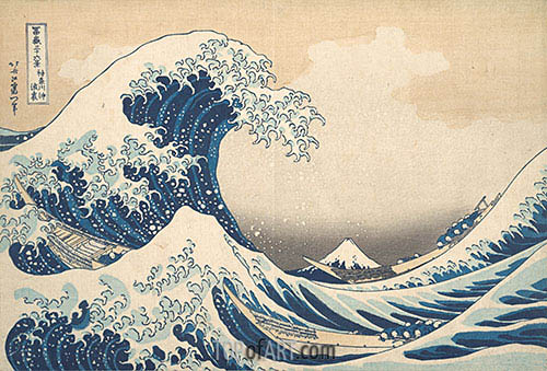 The Great Wave at Kanagawa, c.1830/32 | Hokusai | Painting Reproduction