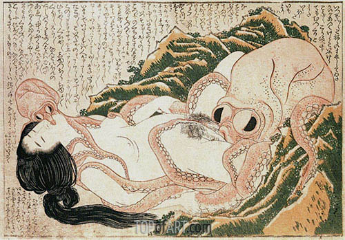 Hokusai | Der Traum der Frau des Fischers, 1814