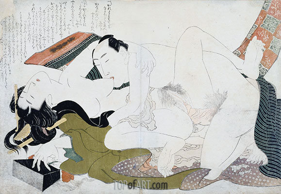 Examples of Loving Couples (Tsuhi no Hinagata), c.1814 | Hokusai | Painting Reproduction