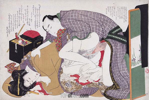 Hokusai | Liebe Paar im Nähkästchen, c.1812/14