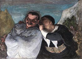 Crispin and Scapin (Scapin and Sylvester), c.1863/65 by Honore Daumier | Painting Reproduction