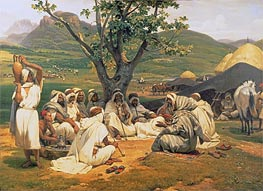 The Arab Tale-Teller, 1833 von Horace Vernet | Gemälde-Reproduktion