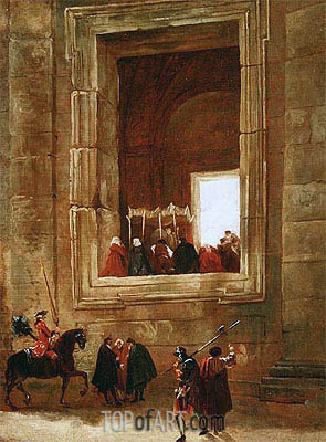 The Vatican, Rome, undated | Hubert Robert | Painting Reproduction