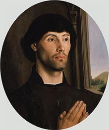Portrait of a Man, c.1475 by Hugo van der Goes | Painting Reproduction