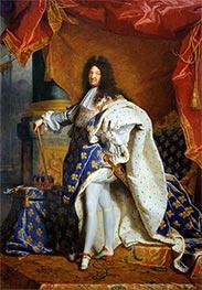 Porträt von Louis XIV von Frankreich, c.1701/02 von Hyacinthe Rigaud | Gemälde-Reproduktion