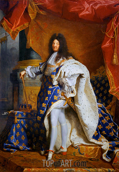 Portrait of Louis XIV of France, c.1701/02 | Hyacinthe Rigaud | Painting Reproduction