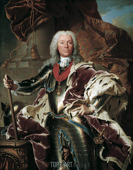 Portrait of Prince Joseph Wenzel I von Liechtenstein, 1740 | Hyacinthe Rigaud | Painting Reproduction