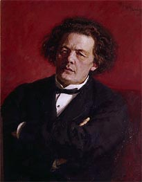 Portrait of Anton Grigoryevich Rubinstein | Repin | Painting Reproduction