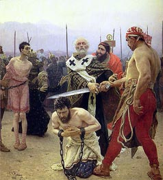 Saint Nicholas Delivers Three Unjustly Condemned Men from Death | Repin | Painting Reproduction