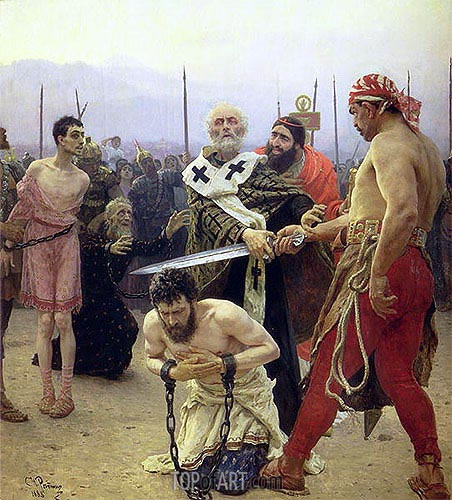 Saint Nicholas Delivers Three Unjustly Condemned Men from Death, 1888 | Repin | Gemälde Reproduktion