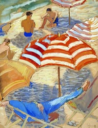 On the Beach, undated by Isaac Grünewald | Painting Reproduction