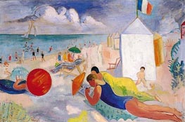 The Beach, undated by Isaac Grünewald | Painting Reproduction
