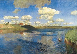 The Lake. Russia, 1895 von Isaac Levitan | Gemälde-Reproduktion