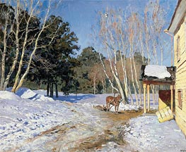 March, 1895 von Isaac Levitan | Gemälde-Reproduktion