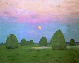 Twilight. Haystacks, 1899 von Isaac Levitan | Gemälde-Reproduktion