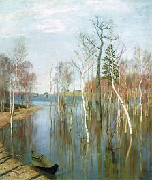 Spring, High Water, 1897 by Isaac Levitan | Painting Reproduction