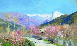 Spring in Italy, 1890 by Isaac Levitan | Painting Reproduction