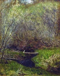 Spring in the Forest, 1882 von Isaac Levitan | Gemälde-Reproduktion