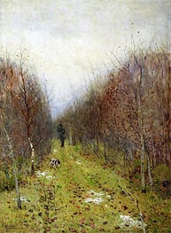 Autumn. Hunter, 1880 von Isaac Levitan | Gemälde-Reproduktion