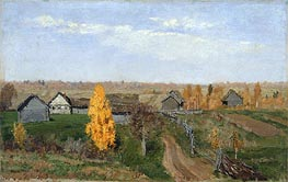 Golden Autumn. Slobodka, 1889 by Isaac Levitan | Painting Reproduction