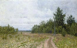 The Track, 1890 by Isaac Levitan | Painting Reproduction