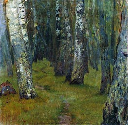 Birches. Grove Outskirts, Undated by Isaac Levitan | Painting Reproduction