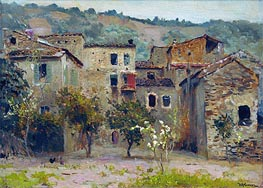 Near Bordighera. North Italy, 1890 by Isaac Levitan | Painting Reproduction