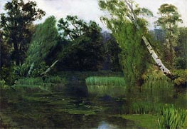 In the Park, 1880 by Isaac Levitan | Painting Reproduction