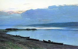 Evening on Volga, 1888 by Isaac Levitan | Painting Reproduction