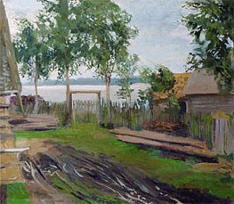 Court Yard, Undated by Isaac Levitan | Painting Reproduction