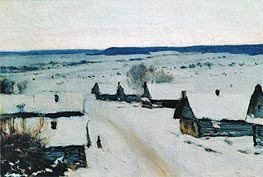 Village. Winter, c.1877/78 by Isaac Levitan | Painting Reproduction