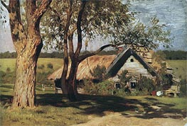 Small House with Willows, c.1880/85 by Isaac Levitan | Painting Reproduction