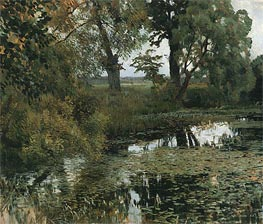Overgrowned Pond, 1887 by Isaac Levitan | Painting Reproduction