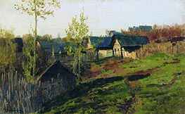 The Log Huts Shined by the Sun, 1889 by Isaac Levitan | Painting Reproduction