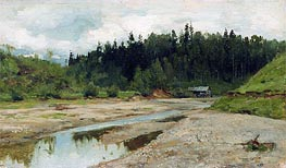 Wood Small River, c.1886/87 by Isaac Levitan | Painting Reproduction