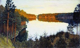Wood Lake, c.1890/00 by Isaac Levitan | Painting Reproduction