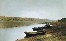 On Volga, c.1887/88 by Isaac Levitan | Painting Reproduction