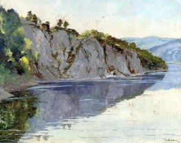 A Crimean Landscape, Undated by Isaac Levitan | Painting Reproduction