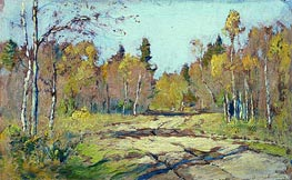 Autumn Sunny Day, c.1897/98 by Isaac Levitan | Painting Reproduction
