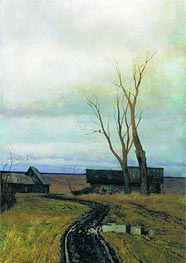 Autumn. Road to Village | Isaac Levitan | Gemälde Reproduktion