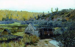 Autumn. Mill. Reach | Isaac Levitan | Gemälde Reproduktion